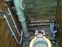 Перенос труб в туалете